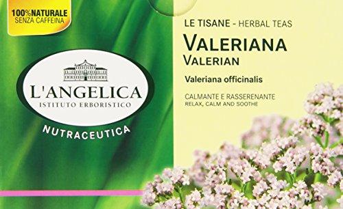 L'Angelica - Tisana Valeriana, Calmante E Rasserenante - 5 confezioni da 20 filtri [100 filtri]