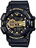 Casio Mens Multi Zifferblatt Digital Uhr mit Harz Armband GA-400GB-1A9ER