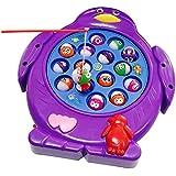 Juegos de Pesca Electrónico Musical Juguete Familia Educativo con 15 Peces para Niños Niñas 3 4 5 Años, Color al azar, Conjunto de 1