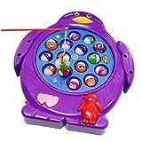 Juegos de Pesca Electrónico Musical Juguete Familia Educativo con 15 Peces para Niños Niñas 3 4 5 Años, Color al azar, Conjunto de 1 - HONGCHENG - amazon.es