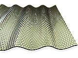 Wellplatte Acryl 3 mm, 76/18, Sinus, bronce, Wabe Breite: 1045 mm (23,85 € pro qm) (6000)