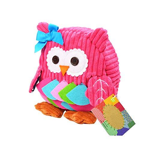 Oasmu zainetto per bambini gufo zainetto asilo bimbo zainetti per bambini per la scuola, con animali, età: 2-6 anni
