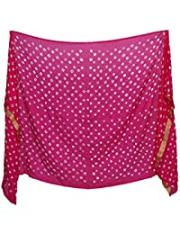 Anoma Silk Pink Colour Dupatta For Womens & Girls