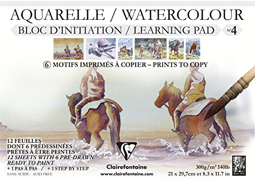 Initiation Aquarellblock N ° 4A4300g 12SH Pferd, mehrfarbig