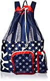 Sports Et Loisirs Best Deals - Tyr Big Mesh Mummy - Mochila (20 L), color rojo y azul marino
