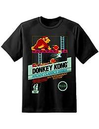 Camiseta de DPX-1 con diseño Donkey Kong de Nintendo Arcade Negro negro ... 3577806b537