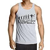 lepni.me Camisetas de Tirantes para Hombre La Evolución del Fútbol - Copa del Mundo de Fútbol, Camisa de Ventilador del Equipo, Campeonato de Rusia 2018 (XX-Large Blanco Negro)