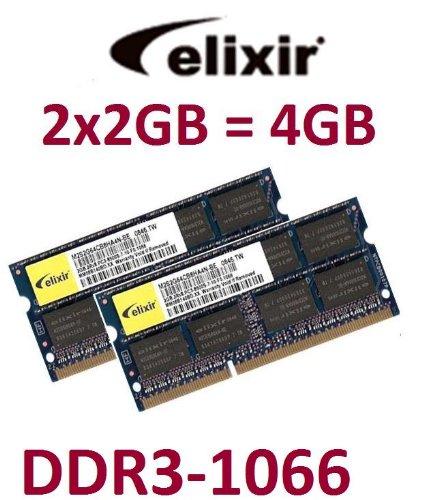 2gb Kit Apple Mac (4GB Dual Channel Kit Elixir original 2 x 2 GB 204 pin DDR3-1066 (PC3-8500) 128Mx8x16 double side (M2N2G64CB8HA5N-BE) für aktuelle DDR3 Notebooks + MacBook (Late 2008) + MacBook Pro (Late 2008 + 2009) + iMac (2009 Modelle))
