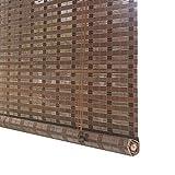 Tende a rullo Tenda Oscurante Montaggio Esterno - Porta/Gazebo/Balcone/Parasole Esterno in bambù con Ganci, 80 cm / 100 cm / 120 cm / 140 cm Largo (Dimensioni : 80×190cm)