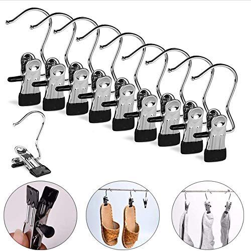 Nuluxi Perchas para Botas con Clip de Metal Ropa Ganchos de Arranque Ropa Gancho para Colgar Clips de Sujeción Accesorios de Perchas Utilizado para Sujetadores, Calcetines, Toallas, Botas (Pequeño)