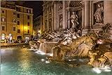 Posterlounge Alu Dibond 150 x 100 cm: Rom Fontana di Trevi Italien von Filtergrafia
