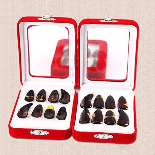 Kostüm Einfache Super Kinder - Guzheng Nails B5645ells Zubehörset für chinesische Zitronen mit Box 8-teilig S