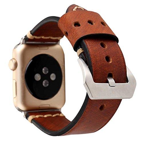 Banda reloj cuero 38 mm 42 mm iWatch Correa repuesto