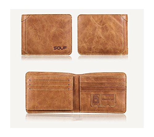 ZXDOP Brieftasche der Männer Mappen-Retro- Männer kurze Beutel-Mappe der ledernen Beutel-Männer ( farbe : 2# ) 1#