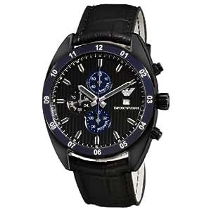 Emporio Armani - AR5916 - Montre Homme - Quartz Chronographe - Chronomètre - Bracelet Acier Inoxydable Noir