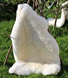 Alpenfell Schaffell Premium-Qualität Lammfell 110-120cm Weiß echtes Fell ökologische Gerbung