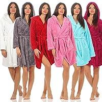 Naturawalk Knuffelbadjas voor dames, huisjas met capuchon, in 6 kleuren L antraciet
