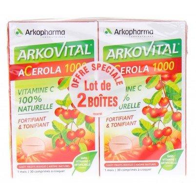 ARKOPHARMA - Acerola 1000 - Lot de 2