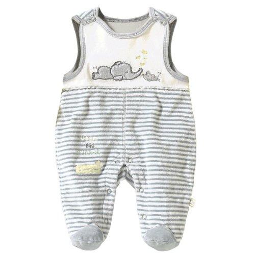 BORNINO Nicki-Strampler Baby Strampelanzug, Größe 50/56, grau