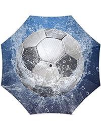 Fútbol balón de fútbol plegable paraguas con antideslizante agarre paraguas  para negocios y viajes 793353a982b25