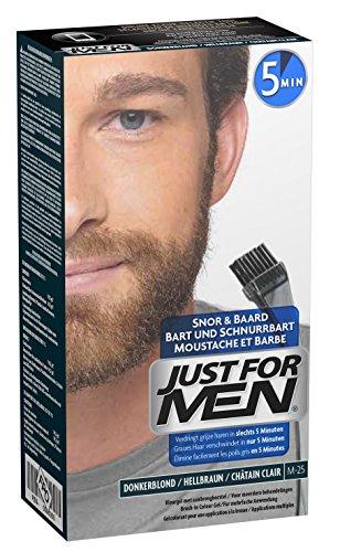 Just For Men - M25 - Pflege Brush In Color Gel für Bart, Schnurrbart, Hellbraun (Bart-gesicht)