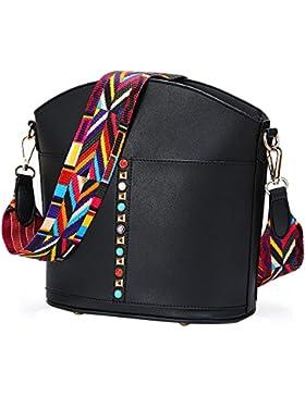 YsinoBear Neue Mode Design Tasche Weites Bunte Strap Schultertasche mit Bunten Nieten