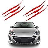 Bonfinity 2 Adesivi Auto a Forma di Graffi Tuning Sport   Stickers Adesivi Moto Macchina Esterni 40 x 3 cm (Rosso)