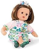 Götz 1920933 Muffin Blooms Puppe - 33 cm große Babypuppe mit braunen Schlafaugen, braune Haare und...