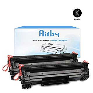 Airby® New Compatible HP 44A CF244A Toner Cartridge Black for HP Laserjet Pro M15a M15w MFP M28a M28w, 2 pack