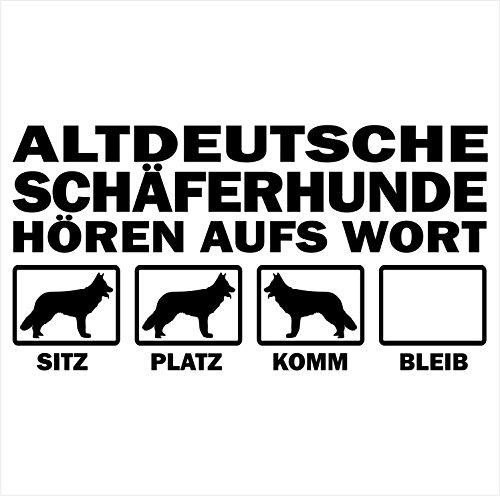 Siviwonder Auto Aufkleber ALTDEUTSCHE SCHÄFERHUNDE Hunde Hören aufs Wort Hundeaufkleber 30cm black