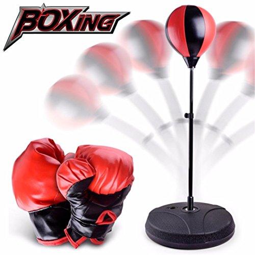 Kinder Punchingball Set, Gusspower Jugend Boxen Box-set mit Boxhandschuhen & Pumpe für Erwachsene Stress HausTraining, Standboxsäcke und Fight Ball Reflex