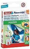 200 x tesa Powerstrips® Poster / Klebestrips / spurlos ablösbar / für Bilder, Poster u.v.m./ 10 Packungen, je 20 Strips/58003-00079