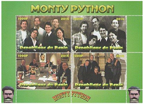 Monty-Python-TV-Serie alte Fotografien und Wiedervereinigung Block für Sammler - 4 Briefmarken / 2014 / Benin / MNH (Python-sammlung)