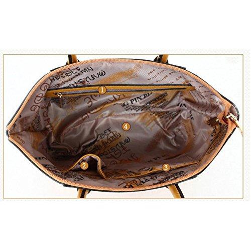 Damen Koffer Mode Handtasche Umhängetasche Diagonalpaket Umhängetasche Exquisite 6 Sets Purple