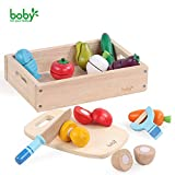 Boby's Wonderland Frutta da Tagliare Giocattolo Giochi Legno Verdure per Bambini