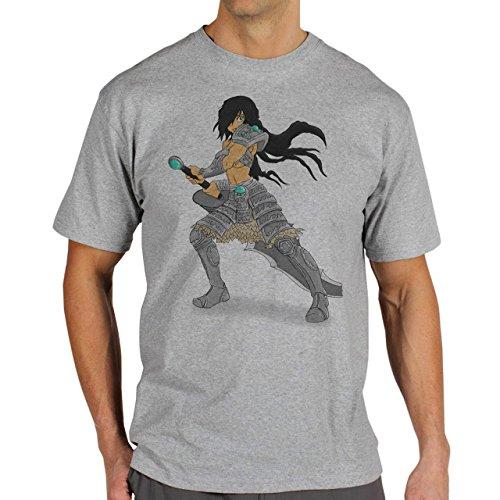 League Of Legends Champion Character Art Feminize Herren T-Shirt Grau