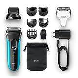 Braun Series 3 Shave und Style Elektrischer Rasierer und Trimmer 3010BT, blau/schwarz - 5
