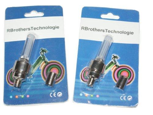 RBrothersTechnologie 2 Stück LED Ventilkappen Radbeleuchtung Licht Felgenlicht Tuning Auto ROT - 3