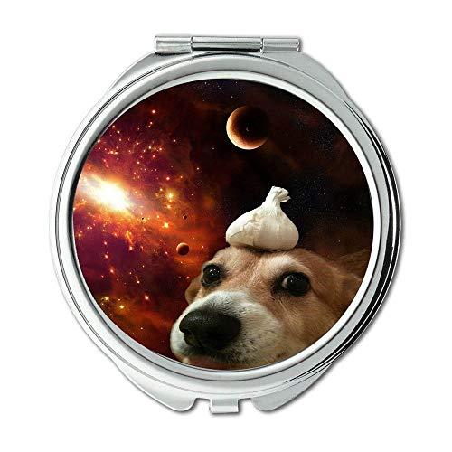 Yanteng Spiegel, Compact Spiegel, Alaska Malamute Hund Vodafone Hund, Taschenspiegel, 1 X 2 X Vergrößerung