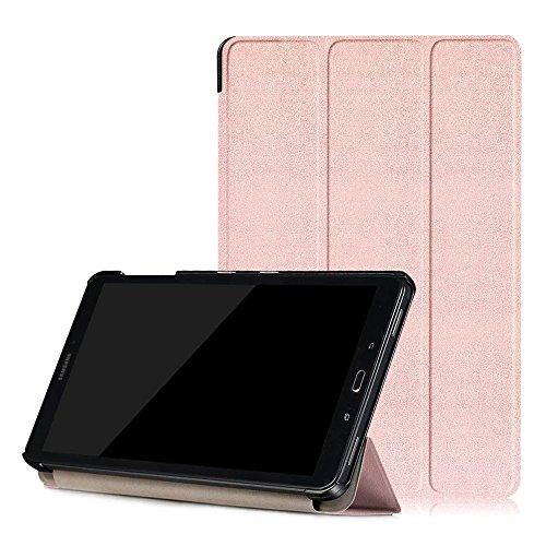 XITODA Custodia Galaxy Tab A6 10.1 - PU Pelle Smart Case mit Stand & con Il Sonno/Sveglia la Funzione Cover per Samsung Galaxy Tab A 10,1 2016 SM-T585/T580 Tablet Custodia Protezione,Oro Rosa