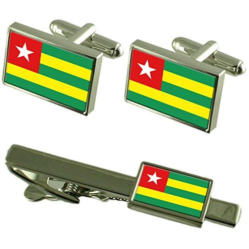 Togo Fahne Manschettenknöpfe Krawatten passende Box Set