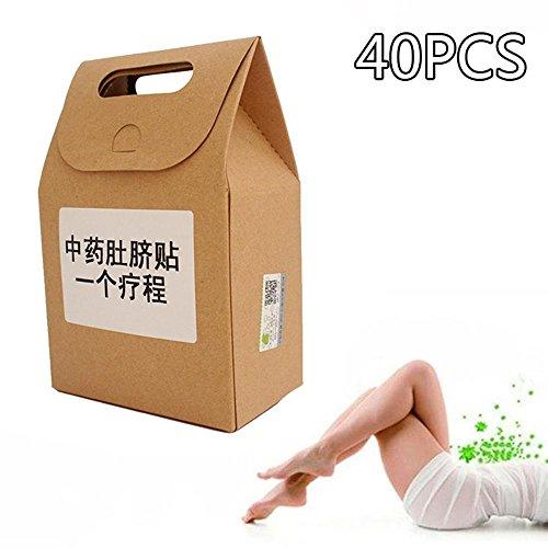 Fettverbrennung Patch Abnehmen Navel Stick Schlank Gewichtsverlust Patch Wunder Abnehmen Patches für Faule Menschen Gewichtsverlust Frauen 40 STÜCKE (1 Paket)