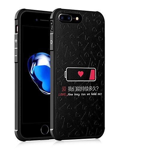 UKDANDANWEI Apple iPhone 7 Plus [QKS] TPU 3D Handyhülle Schutzhülle Silikon kratzfeste stoßdämpfende Case für Apple iPhone 7 Plus - Stil(02) Stil(07)