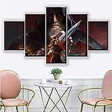 Canvas Painting 5 Piece HDs Assassin