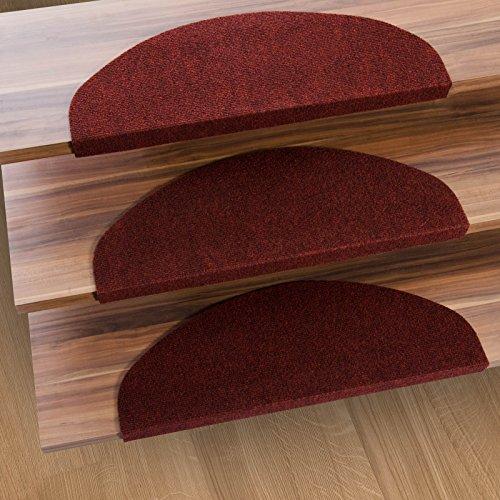 casa-pura-stair-tread-mats-leipzig-red-15-piece-set-23-x-65-cm-multiple-colours-durable-non-slip-pro