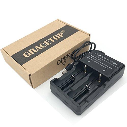 Galleria fotografica USB 2 slot Caricabatteria Applicabile per Torcia o Lampada Frontale (No 18650 Batteria)