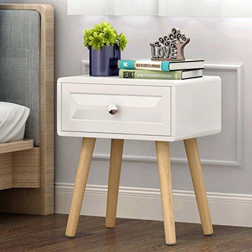 Comodino armadio moderno gambe di legno armadietti tipo economico cassetti (dimensioni : 40*30*48.5cm)