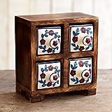 Paper High Fair Trade Mini-Kommoden mit vier Schubladen 150 x 145 x 80mm