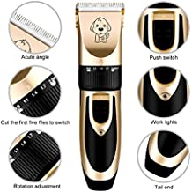 Dealing China Dog Machine Electrical Pet Clipper Professional Grooming Kit Rechargeable Pet Cat Dog Hair Trimmer Shaver Set Haircut Machine