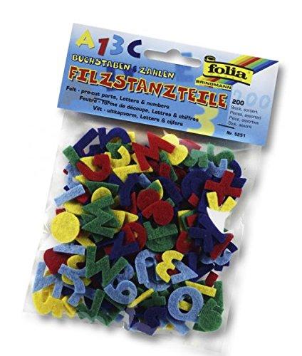Preisvergleich Produktbild Filzstanzteile Buchstaben+Zahl